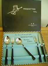 Vintage 1950s/60s Joseph Rodgers Manhattan Modernist Cutlery Place Setting NMIB