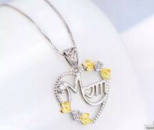 I Love You Mum Necklace Silver Jewelry Mother Xmas Gifts Presents For Her Mom