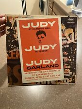 Vintage Judy Garland at Carnegie Hall LP Record 33 1961