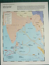 WW2 WWII MAP ~ INDIAN OCEAN RAID MAR-APR 1942 MOVEMENTS SHIP LOST COLONIAL etc