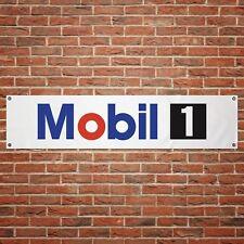 Mobil 1 Oil Banner Garage Workshop PVC Sign Motor Oil