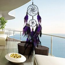 Retro Purple Two Circles Dream Catcher Lobby Living Room Balcony Hanging Hot US