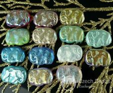 Mix AB Multicolor Czech Glass Elephant Beads Animal 16mm x 22mm 4pcs