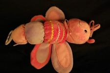"""Carters Butterfly Crinkle Pink Baby Toy Stuffed Animal Lovey  12"""" Plush"""