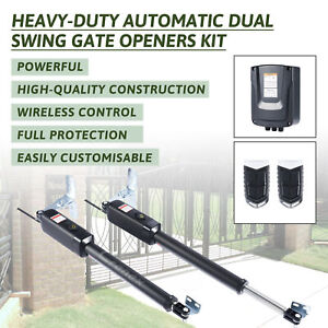 Electric Swing Gate Opener Pull Gate w/ Remote Control Complete Kit 300k#