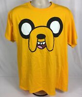 Adventure Time Jake Face Short Sleeve T-Shirt By Jerzees Size Large