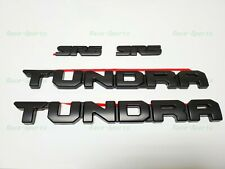 NOT OVERLAYS OEM TOYOTA TUNDRA BLACK-OUT SOLID EMBLEM SET OF 5 75471-0C170