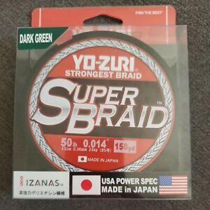 Yo-Zuri SuperBraided Fishing Line 50lb 150Yd Dark Green Salt/Fresh Water