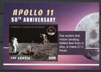 Gambia 2018 MNH Apollo 11 Moon Landing 50th Anniv 1v S/S Space Stamps