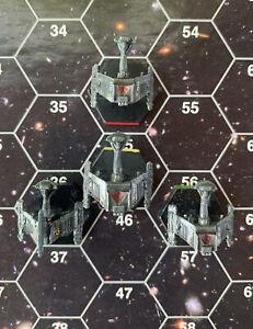 ADB SFB FASA Star Trek 4 Miniatures Klingon Frigate Leader F5/  F6 squadron