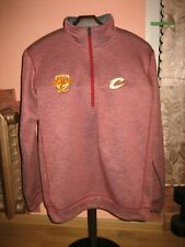 Cleveland Cavaliers CAVS NBA Adidas Wine & Gold United 1/3 zip pullover size L