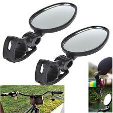 2-pack Mini Rotaty Handlebar Glass Rear view Mirror for Road Bike Bicycle US