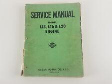 Nissan L13 L16 L20 engine factory workshop manual