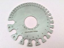 Stainless Steel Round Wire Thickness Measuring Gauge Diameter Gage Tool