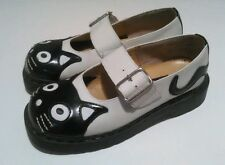 ANARCHIC T.U.K. Leather Shoes Classic Mary Jane Kitty Cat Design Buckle Size 7