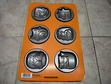 New ! Bradshaw Monster Cookie Mold 6 Cavities Owl Frankenstein Halloween
