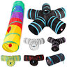 5 Holes Foldable Pet Dog Cat Tunnels Kitten Rabbit Training Toy Play Tunnel Tube