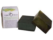 Nettle & Peppermint Glycerine Soap Duo, 100% Natural & Handmade, 130g