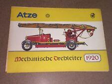 DDR Bilderbogen ATZE Mechanische Drehleiter 1920. Junge Welt Feuerwehr 1975 Neu