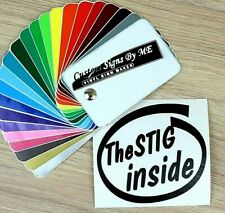 The Stig INSIDE Personalised Car Custom Sticker Vinyl Decal Adhesive Bumper BLAC