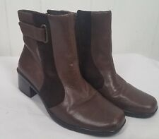 Clark Artisan Boots size 6M leather ankle side zipper womens