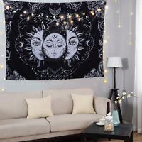 Sonne und Mond Wandbehang Wandteppich Tapisserie Tagesdecke Wand Hängen Deko BS