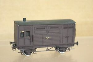 D&S KIT BUILT BRASS OO GAUGE LSWR BROWN HORSE BOX VAN WAGON 87 nr