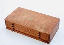 FLUME Uhrmacher Schubladen-Schrank / 4 Schübe mit diversen Ersatzteilen