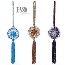 Set 3 Hanging Rainbow Suncatcher Crystal Peony Prisms Beads Feng Shui Pendants