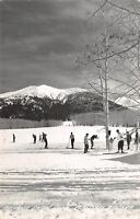 Flagstaff AZ~Arizona Snow Ski Bowl~Skiers~Head to Canyon in Morning~1946 RPPC