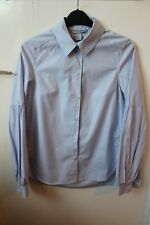 H&M women's stylish smart pale blue shirt with bell sleeves in size 32