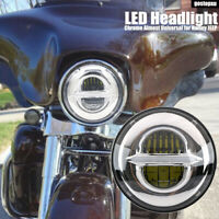 7'' LED Motorcycle Headlight Hi/Lo beam DRL Projector Headlamp for Jeep Harley