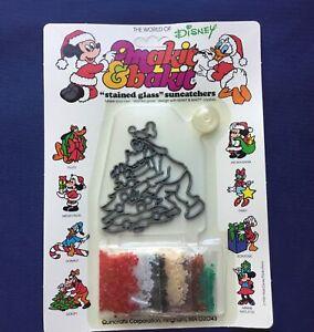Vintage Makit Bakit Goofy Disney Christmas Ornament Suncatcher Kit