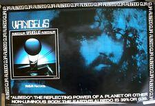 RARE VANGELIS ALBEDO 0.39 1976 VINTAGE ORIGINAL MUSIC RECORD STORE PROMO POSTER