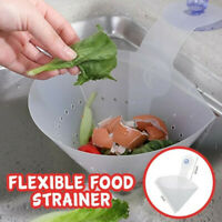 Sink Sucker Self-standing Foldable Filter Strainer PVC Anti-Blocking Device