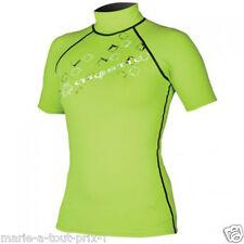 T-SHIRT SURF Mystic Trax Rash Vest S/S Green  taille XS VERT FL Lycra TEE SHIRT