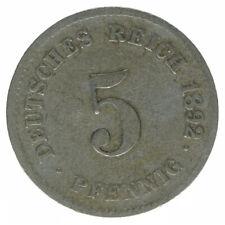 Deutsches Reich 5 Pfennig 1892 G A50492