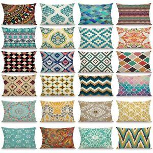 30x50cm Nordic Linen Cushion Cover Sofa Throw Waist Pillow Case Home Bed Decor