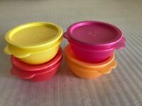 Tupperware Star Bowl One-touch Seal Multi-color - Set of 2 - 500 ml each - NEW!
