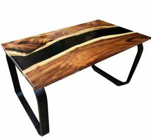 """60"""" x 32"""" Epoxy Center / Coffee Table Top Resin Wooden Furniture"""