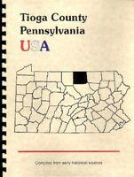 PA Tioga County Pennsylvania USA Wellsboro RP 1885 Gazette Outline history