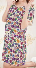 Hot Air Balloon Women Short Sleeve Waist String Loose Dress b124 acc03149