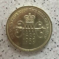 1989 Two Pound £2 Coin Tercentenary Of The Bill Of Rights 1689 1989
