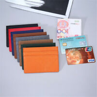 Travel Leather Money Pocket ID Card Holder Card Package Business Card Wallet