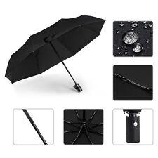 8 Ribs Automatic Travel Umbrella Auto Open Close Compact Folding Water Windproof