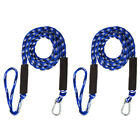 2 Pack Marine Bungee Dock Line Boat Mooring Rope Anchor Cord Stretch Blue White