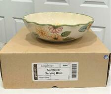 Longaberger Sunflower Large Serving Bowl Dish Pottery Sunflowers New in Box