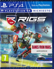 RIGS MECHANIZED COMBAT LEAGUE - Playstation VR PS4 - NUOVO ITALIANO