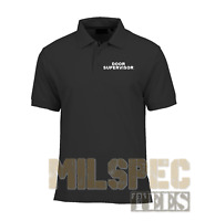 DOOR SUPERVISOR Wicking Polo Shirt (with or without SIA Logo)
