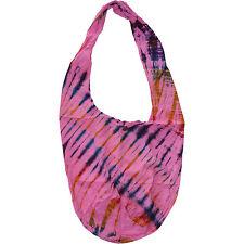 Tie Dye Pink Hobo Hippie Sling Handbag Purse Womens Ladies Girl Kid Shoulder Bag
